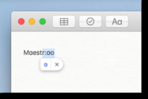 Uso sostituzione testo in MacOS